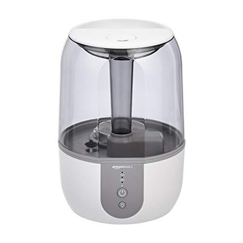 AmazonBasics - Umidificatore con funzione di umidità automatica smart, 4 litri, Bianco