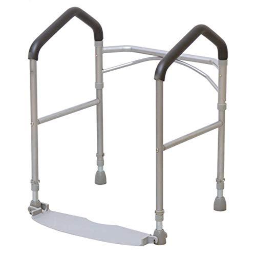 Barras de baño Barra Ajustable en Altura y Plegable Marco de Inodoro Riel Envolvente Inodoro para Ancianos, discapacitados y Personas con discapacidad