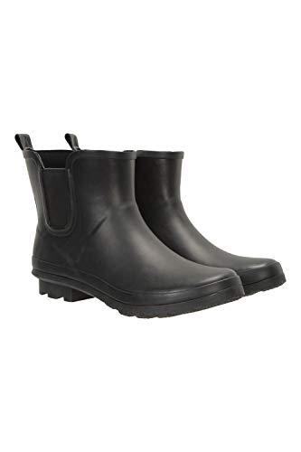 Mountain Warehouse Stivali di Gomma Corti da Uomo - Stivali da Pioggia Impermeabili con Fodera in Cotone - Ideali per giornate di Pioggia, Escursionismo, Trekking Nero 45