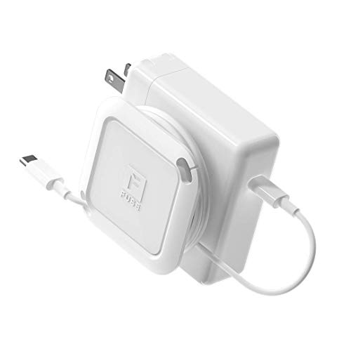 Fuse Reel The Side Kick Collapsible Charger Organizer and Travel Accessory Compatible with MacBook and PC charging cords and adapter cable management White