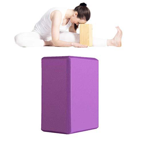 GuangLiu Ladrillo De Yoga Ladrillos Yoga Yoga Conjunto Yoga Kit de iniciación Bloque de Yoga Conjunto Yoga Bloques de Soporte Soporte para Yoga Darkpurple,2pcs