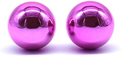 Arcity 2 Pcs Arcade Joystick Ball Top Chrome Handle Rocker Round Head for Arcade Fighting Joystick Controller Game DIY Parts Kit Replacement M6 Pink and Pink Durable New