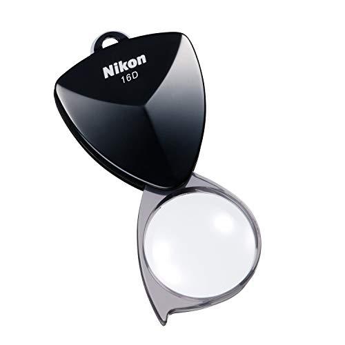 Nikon 携帯型拡大鏡 ニューポケットタイプルーペ16D(4倍) ブラック N16DBK (日本製)