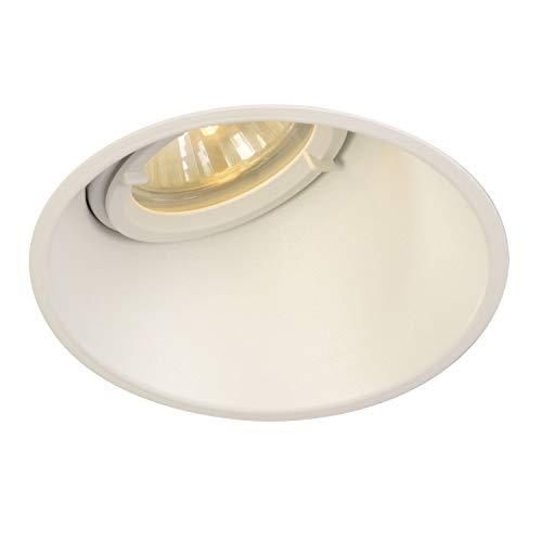 SLV Spot Encastré LED HORN-O   Rond, IP21, Lampe de Plafond Variable pour Eclairage Intérieur, Spot LED, Réflecteur  Projecteur de Plafond, Plafonnier, Encastré, 1 Lampe   GU10 QPAR51, EEC E-A++