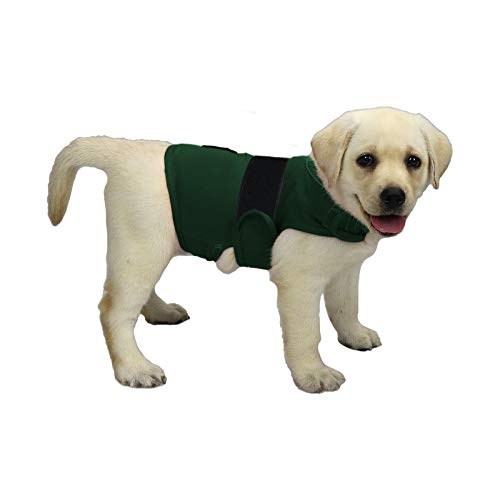 KittyStar Breathable Thunder Shirts for Dogs, Dog Anxiety Vest Jacket Warp,Puppy Calming Coat Anxiety Relief (Green S)