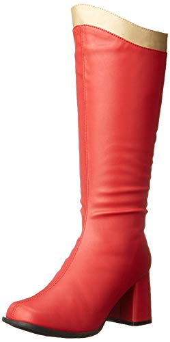 Ellie Shoes Women's 300 Super Boot, Red/Gold, 9 M US
