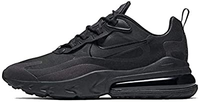 Nike Mens Air Max 270 React Running Shoes (11.5), Black/Oil Grey