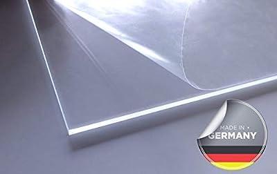 Acrylglas   transparent   glasklar   UV beständig   beidseitig foliert   im Zuschnitt   4 mm stark