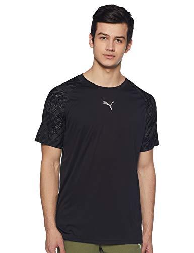 Puma Vent Graphic - Camiseta para Hombre, Hombre, Camiseta, 516856, Puma Black-Iron...