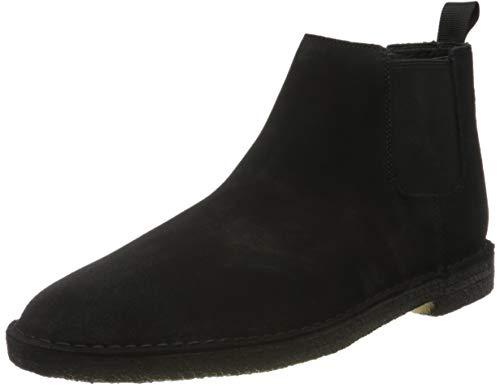 Clarks Herren Desert Chelsea Boots, Schwarz (Black SDE Black SDE), 46 EU