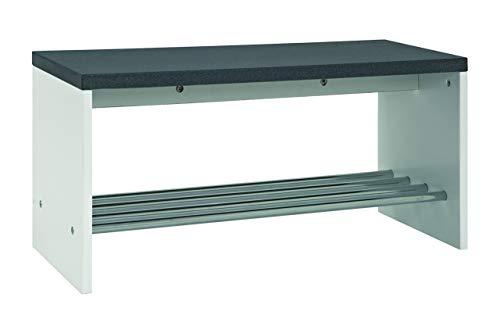 Haku Möbel 95530 Banco, MDF. Acero, granito Óptico-cromo, 81 x 30 x 40