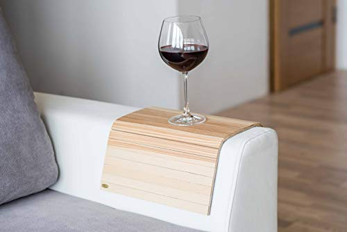 Bandeja de madera para reposabrazos de sofá, mesa de sofá, bandeja de sofá (luz)