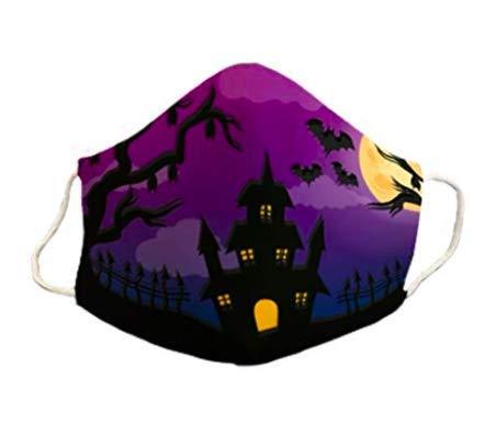 Mascarilla infantil 6-9 años homologada Halloween protectora de 3 capas lavable...