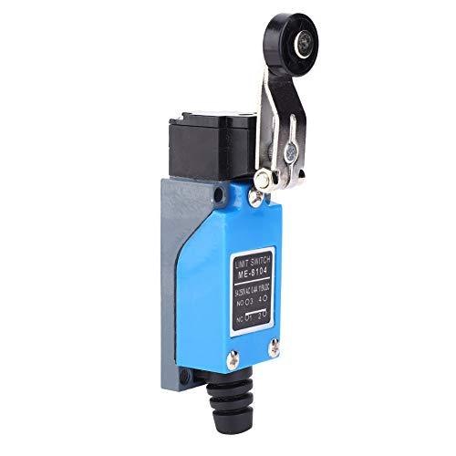 LANTRO JS - Interruptor de límite 8104 Mini interruptor de límite 250VAC 50~60Hz 115VDC Microinterruptor de palanca de rodillo ajustable 12 x 4 x 2.7cm