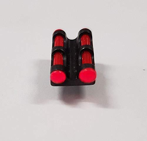 LPA MIRINO E TACCA di Mira Fucile Fibra Ottica Diametro 2,6 Verde Giallo (Rosso)