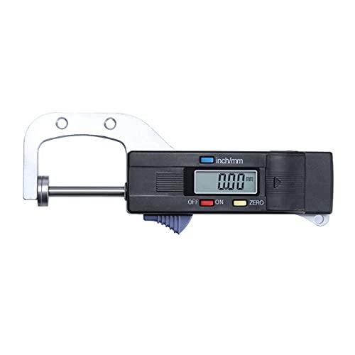GYAM Pantalla Digital electrónica Triple Use Ruler Acero Inoxidable Espesor de medición de calibrador indicador 0~25 mm
