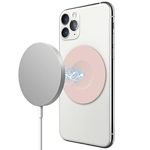 elago Adhesivo Magnético de Guía Compatible con Apple Cargador MagSafe, Compatible con iPhone 11, Pro, Pro MAX, XS, XR, XS MAX, X, 8, Plus, Compatible con Serie 12 de iPhone con Fundas (Rosa Piedra)
