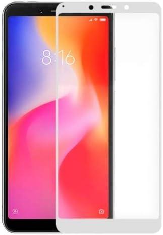 Protector de pantalla para móvil Xiaomi Mi A2 Lite Premium Full Glue Dureza 9H Paquete de 2 Unidades Vidrio Templado Transparente Ultra Resistente Anti Rotura Cristal (Xiaomi Mi A2 Lite, Blanco)