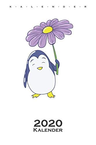 Pinguins Regenschirm-Blume Kalender 2020: Jahreskalender für Tierfreunde und alle mit Haustieren