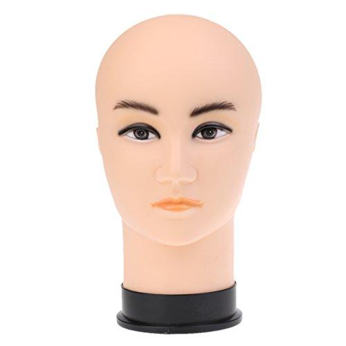 SM SunniMix PVC Mannequin Tête Hommes Modèle Perruques Lunettes Foulard Chapeau Chapeau Présentoir Outil