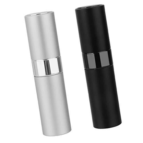 IPOTCH 2x 8ml Portable Mini Bouteilles de Parfum en Alliage Fioles Vides Pompe Vide Pulvérisateur Flacon de Parfum de Portable