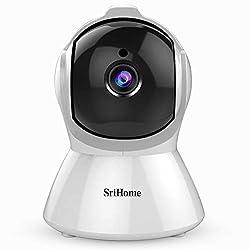 Srihome SH025 Pan/Tilt Wireless WiFi 2MP Full HD 1080p IP Security Camera CCTV with Auto Tracking,Srihome,SH025
