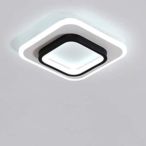 Goeco Plafoniere a LED, Lampada da soffitto Quadrata 20W, per Corridoi Soggiorn Camera da Letto, Diametro 24cm, 3000K-6500K (3 Temperature di Colore)