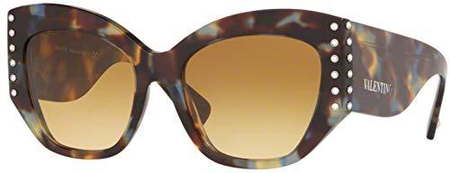 Valentino Gafas de sol VA4056 50682L Gafas de sol Mujer color Marrón amarillo tamaño de lente 54 mm