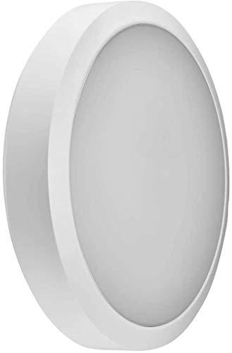 Aplique de pared LED WL92 de Collingwood   Lámpara de pared redonda de 30 cm de diámetro Iluminación para escaleras y...
