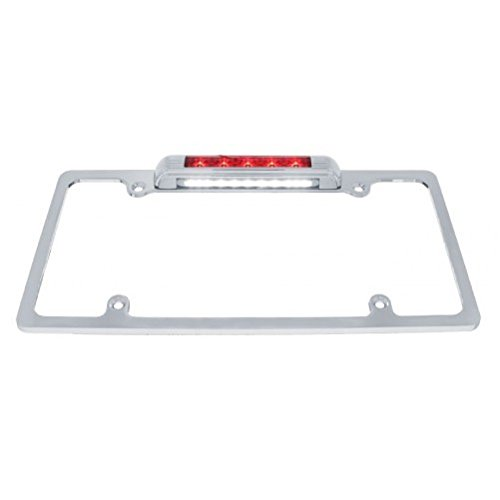 Chrome License Plate Bracket/Red LED Brake Stop Tail Light/LED License Light
