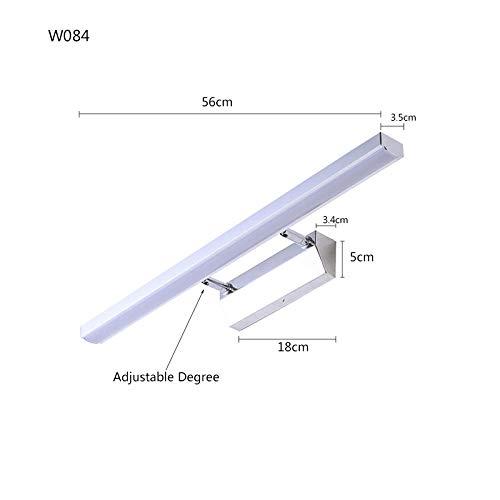Wandlamp badkamer restroom wandlampen spiegel voorlichten verstelbare wastafellamp wandlampen voor wasruimte keukenkast verlichting W084_Warm_White