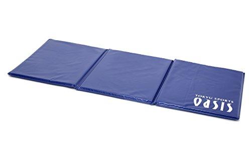 東急スポーツオアシス 三つ折り エクササイズマット ピラテス 158×62×2.5cm ブルー