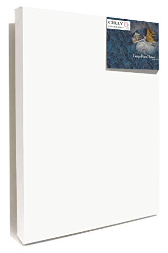 Chely Intermarket, Lienzos para pintar 80x120 cm con oleo, Grosor perfil 37mm, Pre-estirado 100% algodón, Color blanco 380grs(561-80x120-9,25)