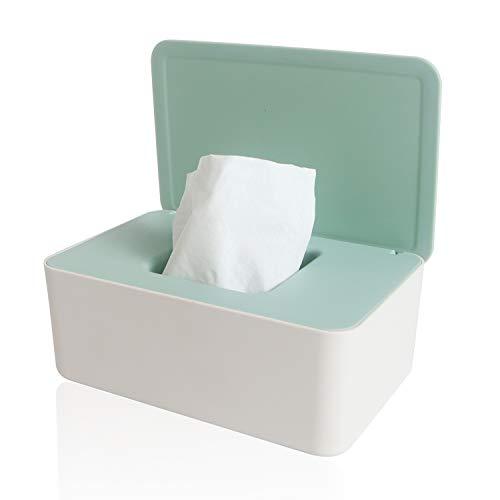 Chanurae Feuchttücher Box, Baby Feuchttücherbox, Kinder Tücher Fall Toilettenpapier Box Tissue Aufbewahrungskoffer Taschentuchhalter Auto Kunststoff Feuchttücher Spender Tücherbox Serviettenbox