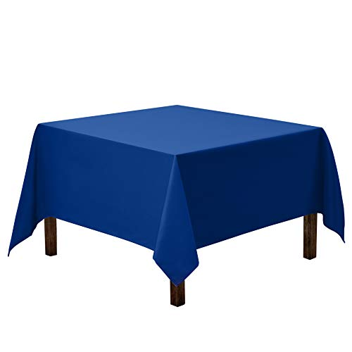Gee Di Moda Square Tablecloth - 85 x 85 Inch - Royal Blue Square Table Cloth for Square or Round Tables in Washable Polyester - Great for Buffet Table, Parties, Holiday Dinner, Wedding & More