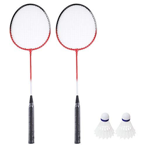Sportside, 2 racchette da Badmington e 1 volante 042401Z, 20 cm, gioco all'aria aperta dai 6 anni