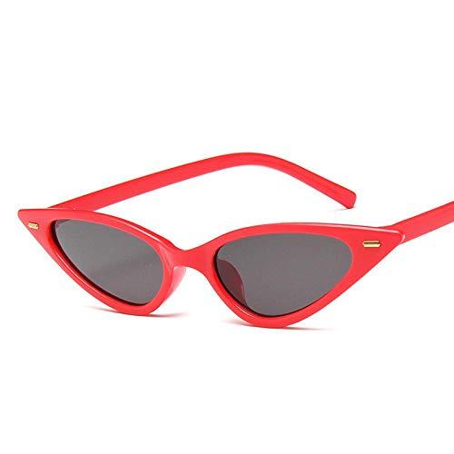 Gafas De Sol Polarizadas Fashion Cat Eye Black Frame Sunglasses Women Ladies Dames Sexy Sun Glasses Women Female Oculos De Sol Redgray