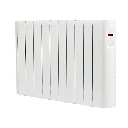 Haverland RC10E - Emisor Térmico Digital Fluido Bajo Consumo, 1250 de Potencia, 10 Elementos, Programable, Exclusivo Indicador De Consumo