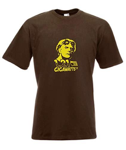 T-Shirt - Doc Brown Zurück in die Zukunft (Braun, L)