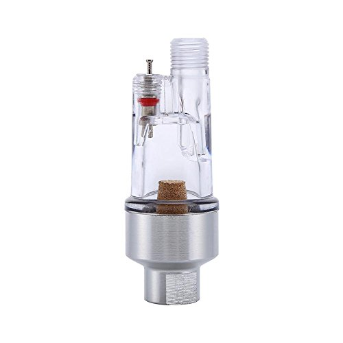 Aerógrafo Mini separador en línea Filtro de aire y trampa de agua para Se conecta a aerógrafos y mangueras con roscas de 1/8'
