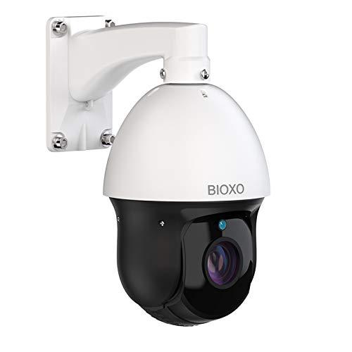 1080P Outdoor IP Camera, Bioxo High Speed PTZ IP Camera 30X Zoom Auto Tracking Camera, 328ft Night Vision Two-Way Audio Ptz Dome Camera