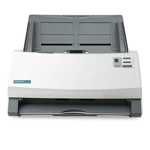 Plustek SmartOffice PS456U Plus Duplex Dokumentenscanner mit Ultraschall- Doppelblatterkennung (ADF, 600dpi, 80ppm)