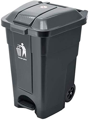 Contenedor de basura Cubo De Basura Pedal De La Tribu De La Basura, Papelera De Reciclaje De Calle Al Aire Libre Multifunción Plástico Grueso Antideslizante Resistente Al Desgaste Cubo(Color:Gray 70l)