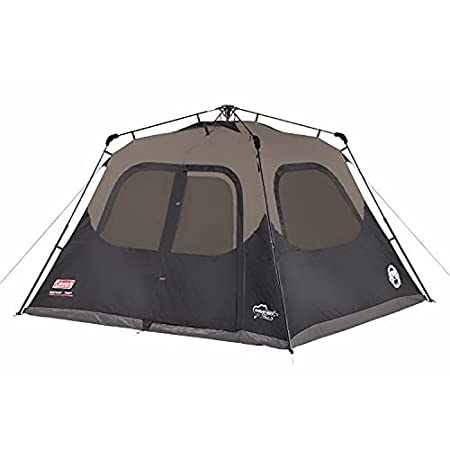 Coleman 6 person instant cabin tent - this is a single layer waterproof design.