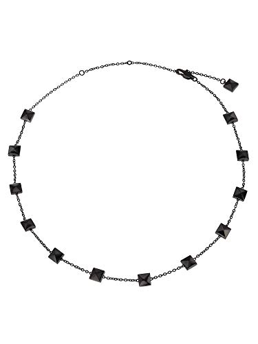 BREIL JEWEL Ladys' ROCKERS JEWELS collection, STEEL NECKLACE 48CM, BLACK color with NO STONES - TJ2811