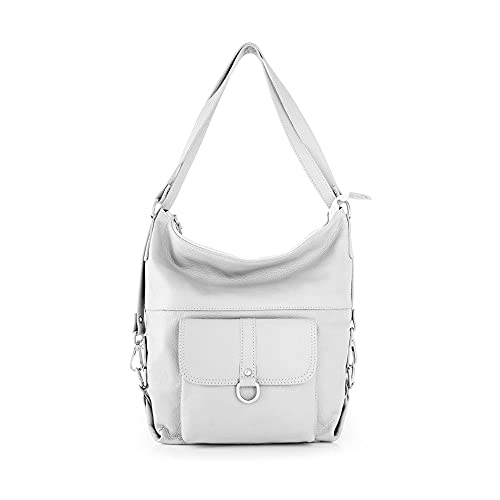 MARANT - Sparky Bolso de piel convertible en mochila. Color blanco. M