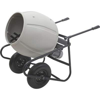 Klutch Portable Electric Cement Mixer -3.5 Cubic Ft. Poly Drum
