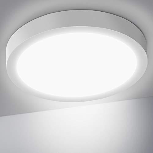 OUSFOT Lámpara de Techo Plafón LED Techo 24W 6000K 2200LM Moderna Luz LED para Cocina Sala de Estar Dormitorio Pasillo Comedor [Clase de eficiencia energética A+++]