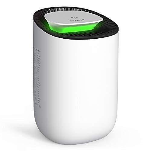 Hysure Mini Deumidificatore da 600 ml,Silenzioso e Portatile Dehumifier, Auto-off, Ideale per Bagno, Cantina,Cantine, Appartamento, Garage