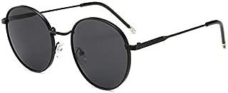Sunglasses Fashion Accessories UV Modern Retro-Style Round Sunglasses Outdoor Dance Party (Color : Black)